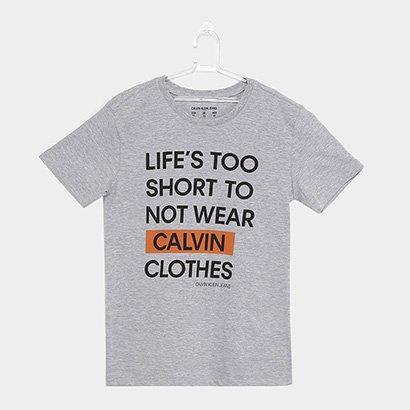 Camiseta Infantil Calvin Klein Life's Too Short Masculina