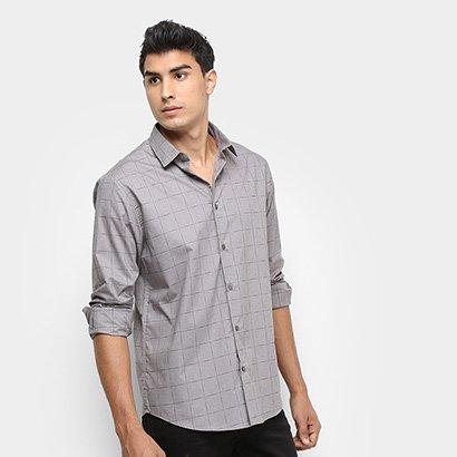 Camisa Calvin Klein Xadrez Falhado Masculina