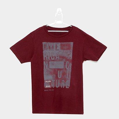 Camiseta Infantil Calvin Klein American Culture Masculina