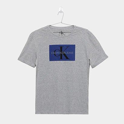 Camiseta Infantil Calvin Klein Ckj Mc Est Ck Quadrado