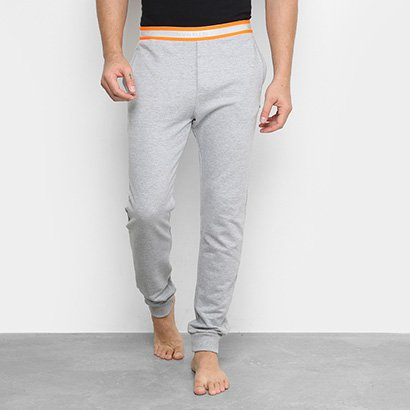 Calça Moletom Calvin Klein Elastico Hazard Lounge Rico Masculina