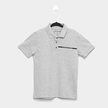 Camisa Polo Infantil Calvin Klein Estonada Masculina
