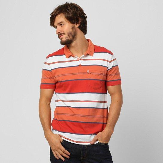 Camisa Polo Levi s Sunset - Laranja+Branco 987286812d7