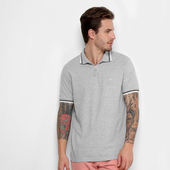 Camisa Polo Cavalera com Zíper Masculina - Mescla - Compre Agora ... 07d28fe8685a9
