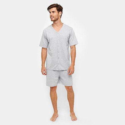 Pijama Lupo Botões Curto Masculino