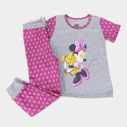 Pijama Infantil Lupo Disney Minnie Longo Feminino
