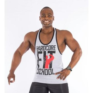 Regata Império Fitness Super Cavada Hardcore Fit School  Masculina