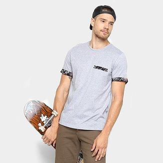 Camiseta MOOD Bolso Estampado Masculina 18f5440618c