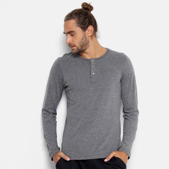 Camiseta Colcci Manga Longa Botões Masculina - Compre Agora  cff70db2bc4