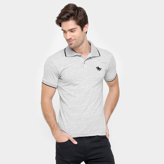 c2e50ccd84140 Camisa Polo RG 518 Malha Friso Logo Masculina - Mescla - Compre ...