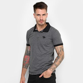 Camisa Polo Rg 518 Malha Listras Logo Metal Masculina eecc0855a08e5