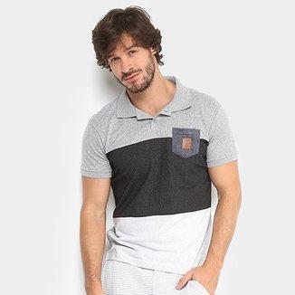 d5e7e9e58a Camisa Polo RG 518 Malha Pontilhada com Bolso Masculina
