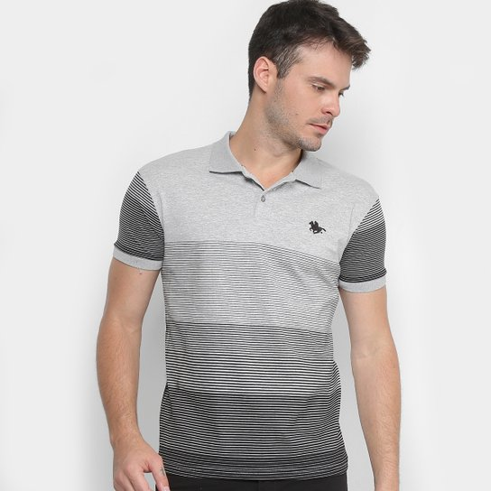 95e3270457 Camisa Polo RG 518 Listrada Degrade Masculina - Mescla - Compre ...