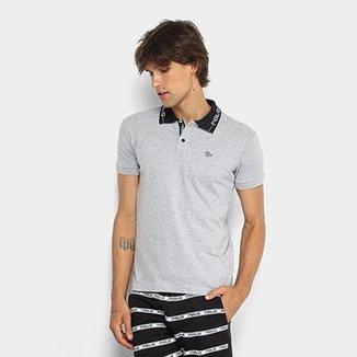 f1bfd149e10d3 Camisa Polo Polo RG 518 Gola Estampada Masculina