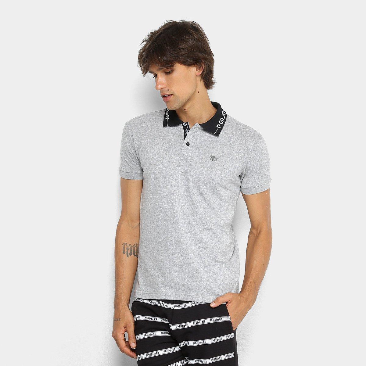 1d45aaf62 Camisa Polo Polo RG 518 Gola Estampada Masculina