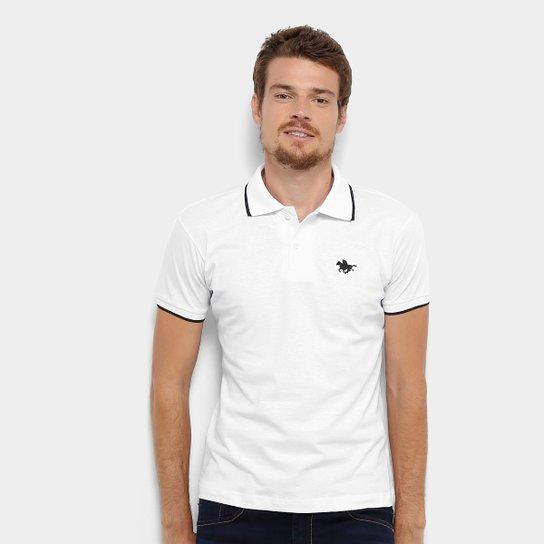 d51a3b0a4 Camisa Polo RG 518 Friso Logo Masculina - Branco - Compre Agora ...