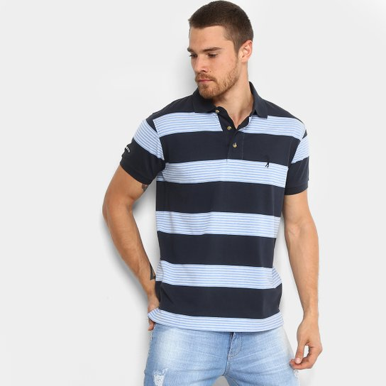 Camisa Polo Listrada Aleatory Manga Curta Masculina - Compre Agora ... a06970da45612