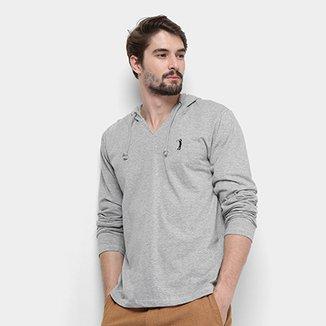 da1c779e2d Camiseta Aleatory Manga Longa Capuz Masculina