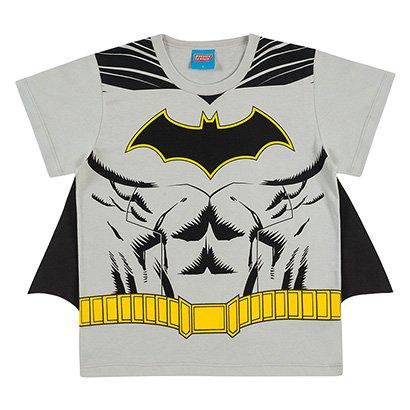 Camiseta Infantil Kamylus Batman + Capa