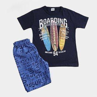 1212c2dd56 Conjunto Infantil Fakini Kids Boarding Masculino