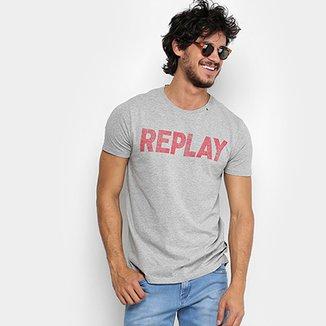 Camiseta Replay Manga Curta Masculina 83787874d4c1b