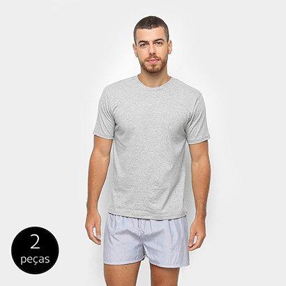 e8aabd12f Conjunto de Pijama Duomo 2 Peças Liso Masculino