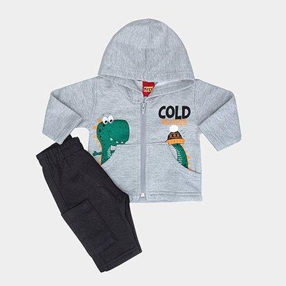 Conjunto Infantil Kyly Jaqueta + Calça Estampado Masculino