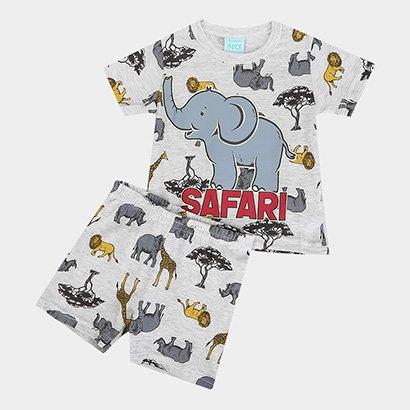 Pijama Infantil Kyly Safari Brilha No Escuro Masculino
