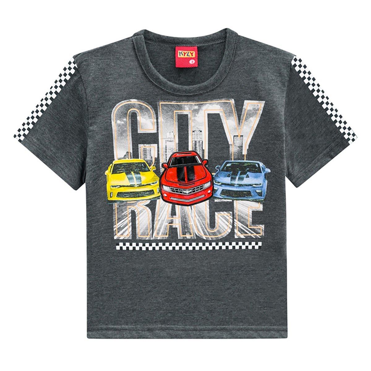 Camiseta Infantil Kyly City Race Masculina