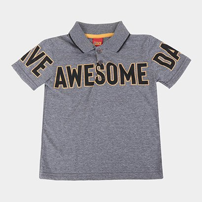 Camisa Polo Infantil Kyly Awesome Masculina