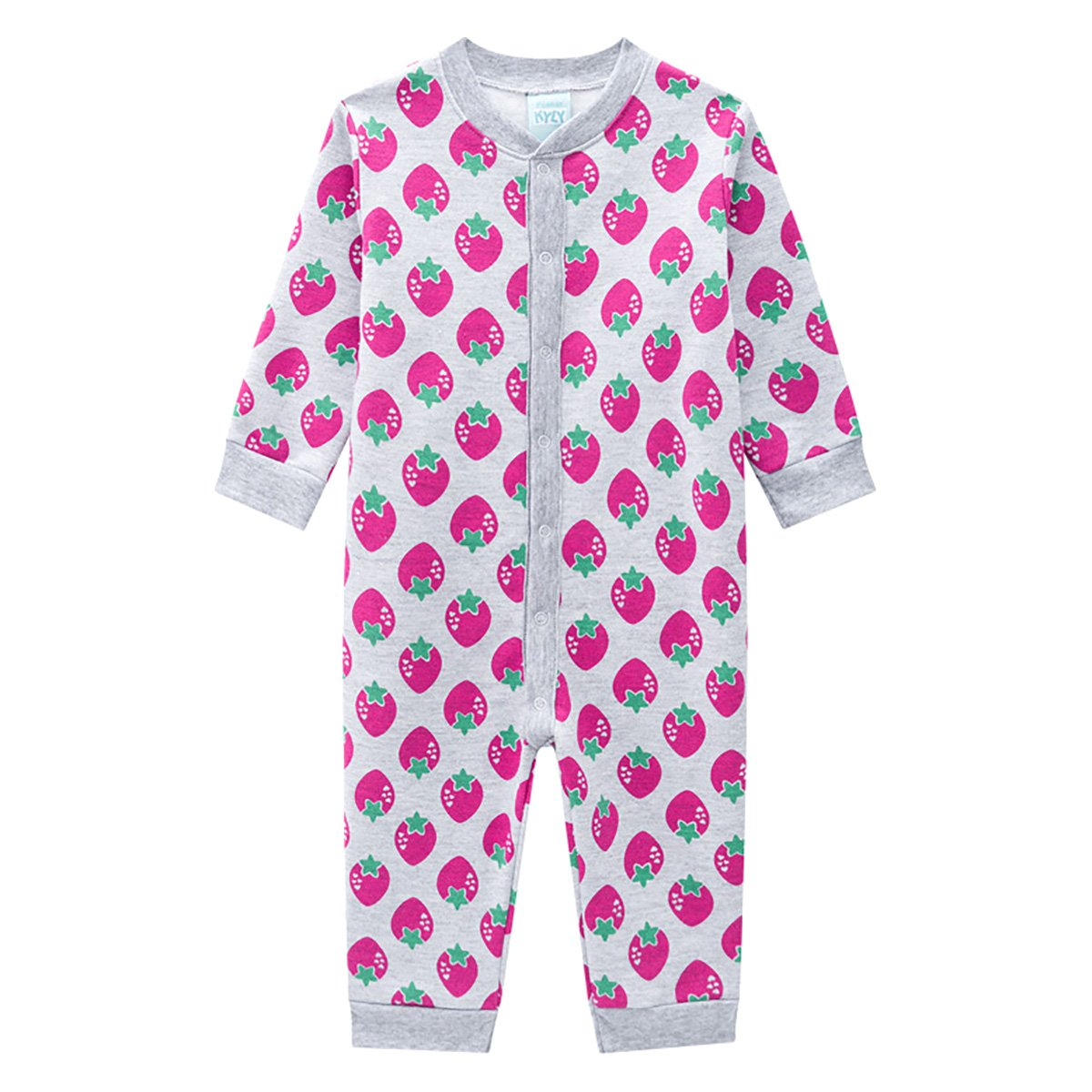 Pijama Macacão Bebê Kyly Moranguinhos Feminino