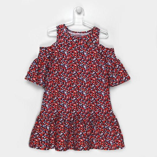 d63d9d83e Vestido Infantil Lilica Ripilica Estampado Feminino - Vermelho