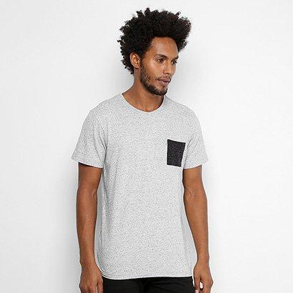Camiseta Redley Botone Bolso Color Masculina