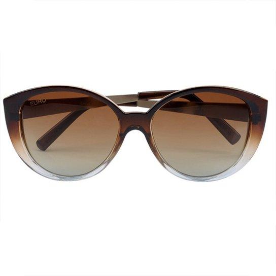 e7835df77f768 Óculos De Sol Euro Feminino Degrade Oc020eu 2M - Compre Agora