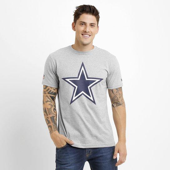 2e30f2083 Camiseta New Era Permanente Dallas Cowboys - Cinza - Compre Agora ...