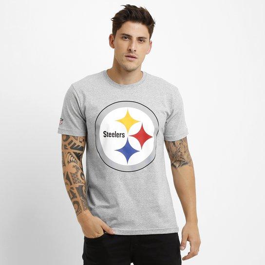 6aa3bad4bc986 Camiseta New Era NFL Permanente Pittsburgh Steelers - Cinza - Compre ...