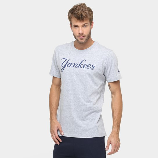 e4504cdab8d3f Camiseta New Era MLB Nac Long 124 New York Yankees - Compre Agora ...