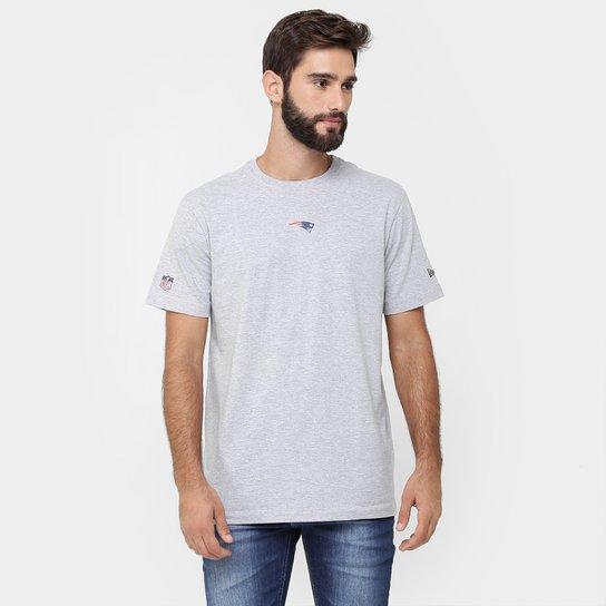 Camiseta New Era NFL Mini Logo New England Patriots - Mescla ... 6310d013a93