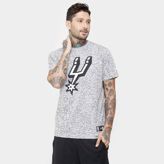 28dfa396f Camiseta New Era NBA Full Print San Antonio Spurs - Compre Agora ...