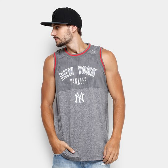 Regata MLB New York Yankees New Era Melange Basket Masculina - Mescla 67994dfdd10