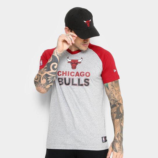 Camiseta NBA Chicago Bulls New Era City Logo Masculina - Compre ... 370fb0d2dea