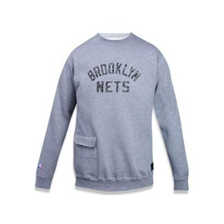 Moletom Careca Brooklyn Nets NBA New Era Masculino