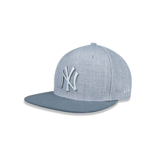 Boné 950 Original Fit New York Yankees MLB Aba Reta Snapback Mescla New Era  - Mescla 0806d8faf36