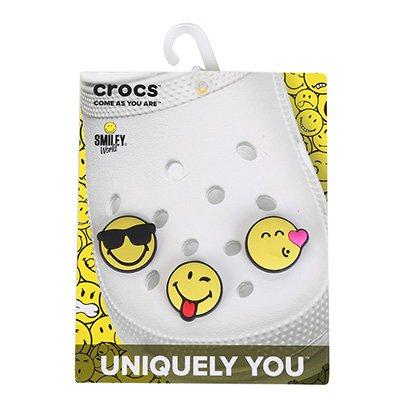 Jibbitz Infantil Crocs Smiley 3 Peças