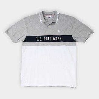 0d22888e1acf6 Camisa Polo U.S. Assn Piquet Frisos Plus Size Masculina