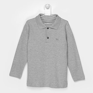 Camisa Polo Infantil Marlan Manga Longa Masculina 69f81f72ea52c