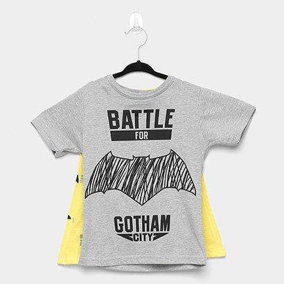 Camiseta Infantil Marlan Batman c/ Capa Removível