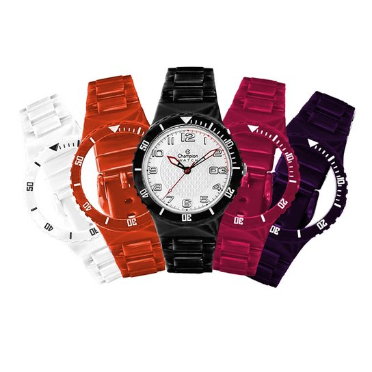 a2e1166a8c8 Relógio Unissex Champion Analógico Troca Pulseira Kit - Compre Agora ...