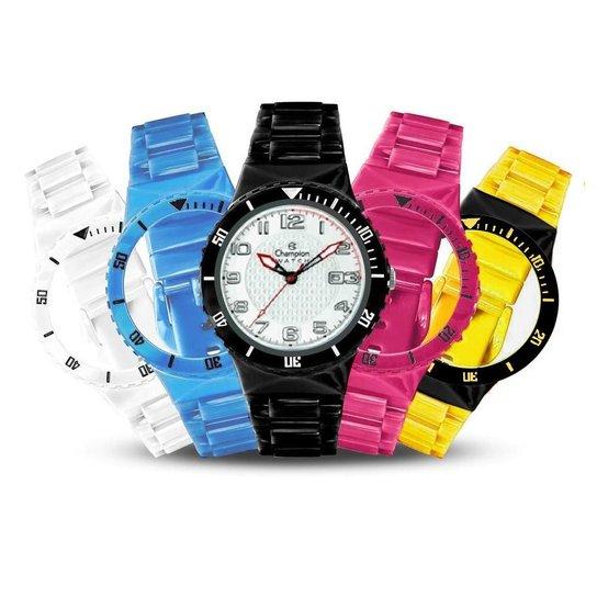 47391c8fb6a Relógio Unissex Champion Analógico Cp30119x Troca Pulseira Kit - Colorido