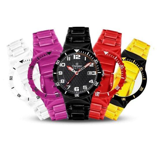 e937c97257f Relógio Unissex Champion Analógico Cp30119x Troca Pulseira Kit - Colorido